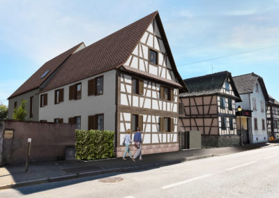 Extension / réhabilitation d'une maison Alsacienne en logements locatifs aidés